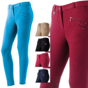 Pantaloni Daslö donna con toppa scamosciata al ginocchio