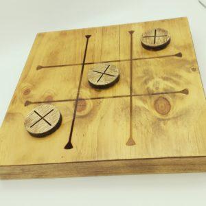 Tris-gioco da tavolo in legno grezzo, Naturarte